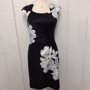 Calvin Klein Dress Lined SZ 4 Asian Inspired